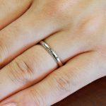結婚指輪No1 女性用 プラチナ