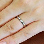 結婚指輪No1 ダイヤモンド 0.03ct プラチナ