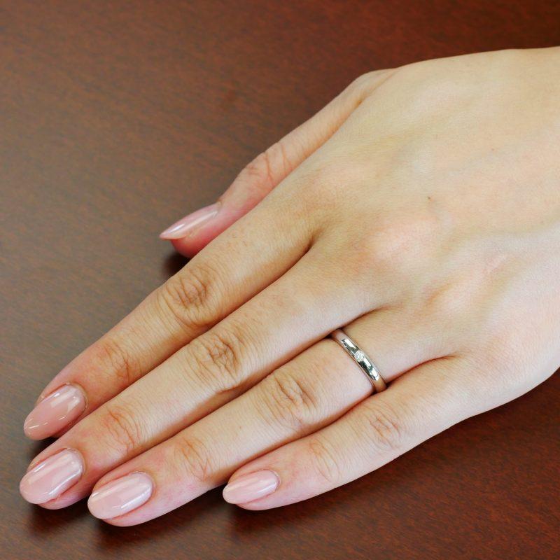 結婚指輪No1 Diamond 0.03ct プラチナ