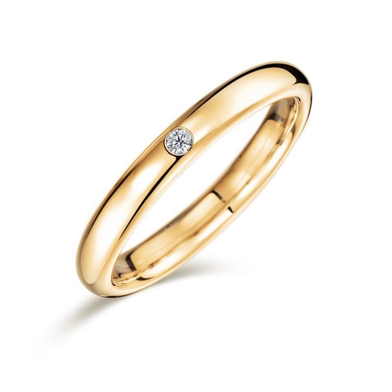 結婚指輪No1 ダイヤモンド 0.01ct ゴールド