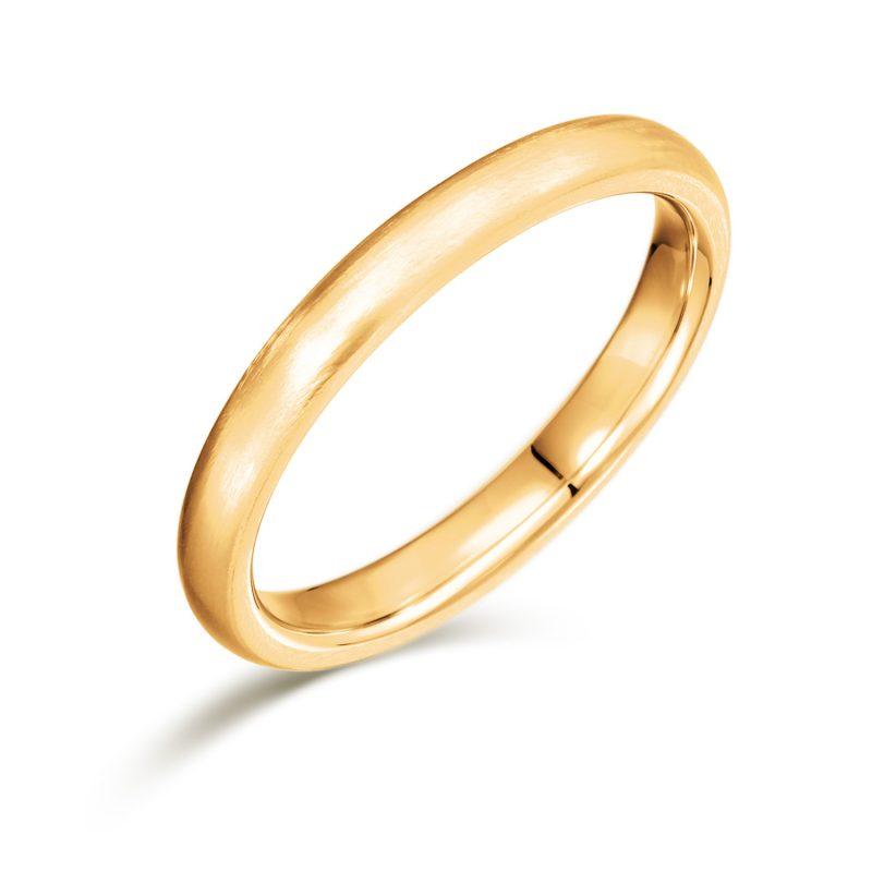 結婚指輪No1 女性用 ゴールド ツヤ消し(幅2.5mm / K18)