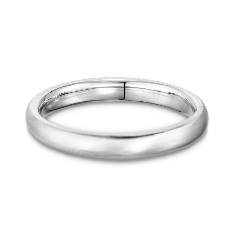 結婚指輪No1 2.5 プラチナ ツヤ消し 後幅