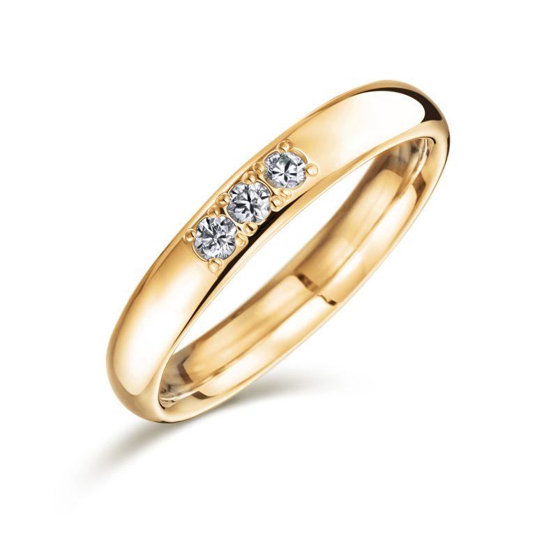 K18 ゴールドリング ダイヤモンド