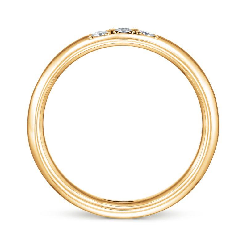 結婚指輪No1 3Diamond 0.08ct ゴールド