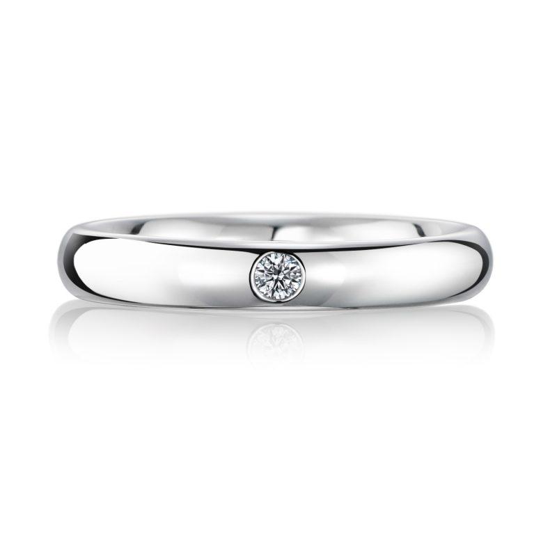 結婚指輪No1 3.0 ダイヤモンド プラチナ 前幅