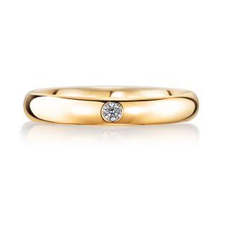 結婚指輪No1 ダイヤモンド 0.03ct ゴールド