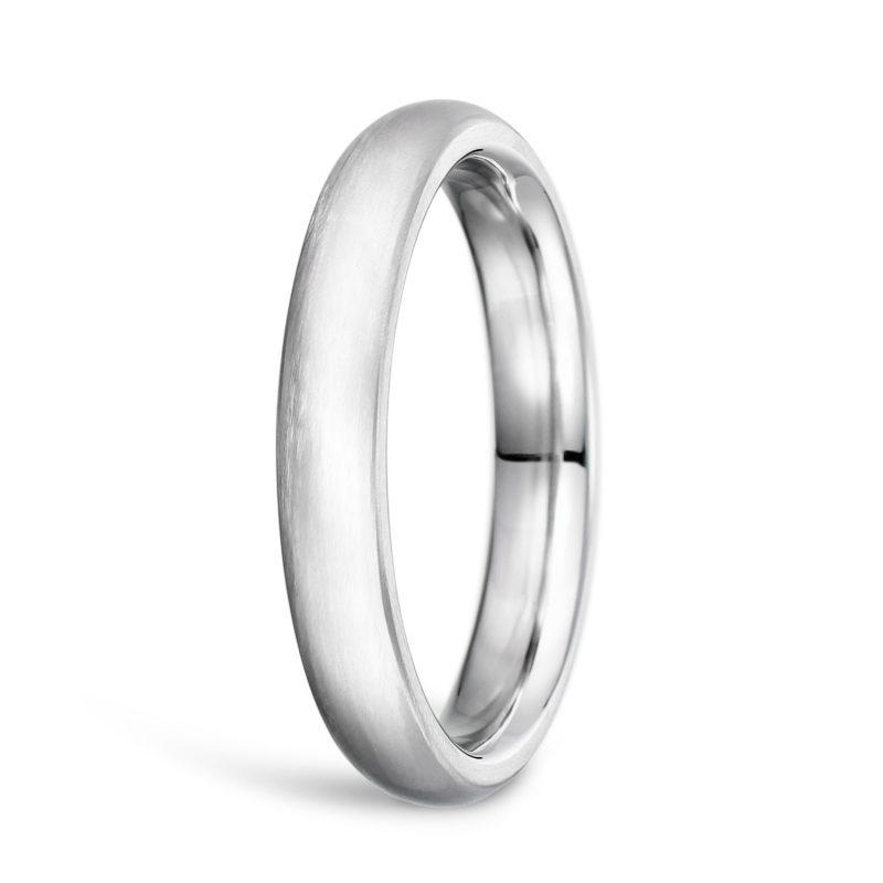 結婚指輪No1 3.0 プラチナ ツヤ消し 後幅