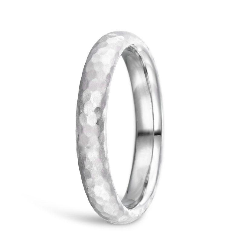 結婚指輪 甲丸 ハンマー 槌目 プラチナ