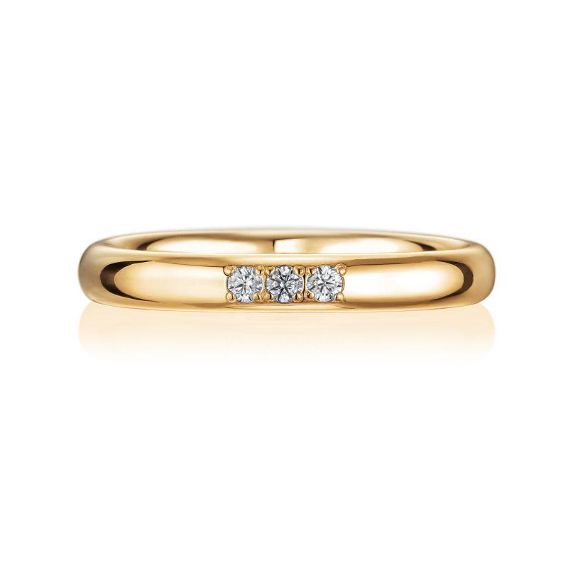 結婚指輪No1 3Diamond 0.03ct ゴールド