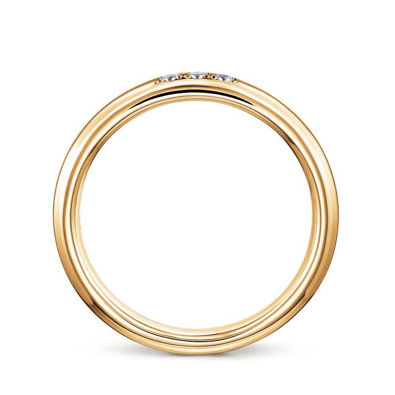 結婚指輪No1 3ダイヤモンド 0.03ct ゴールド