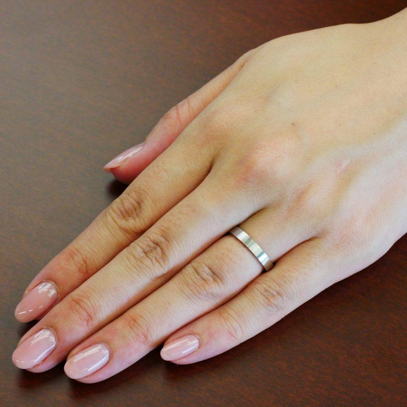 結婚指輪No2 男女兼用 プラチナ ツヤ消し