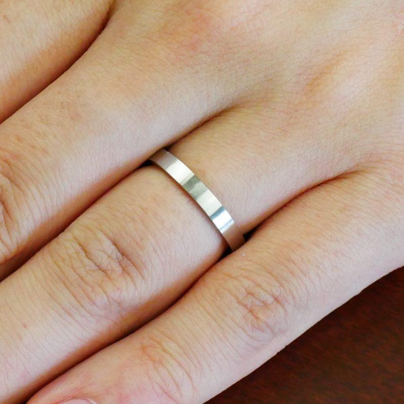 結婚指輪No2 女性用 プラチナ ツヤ消し