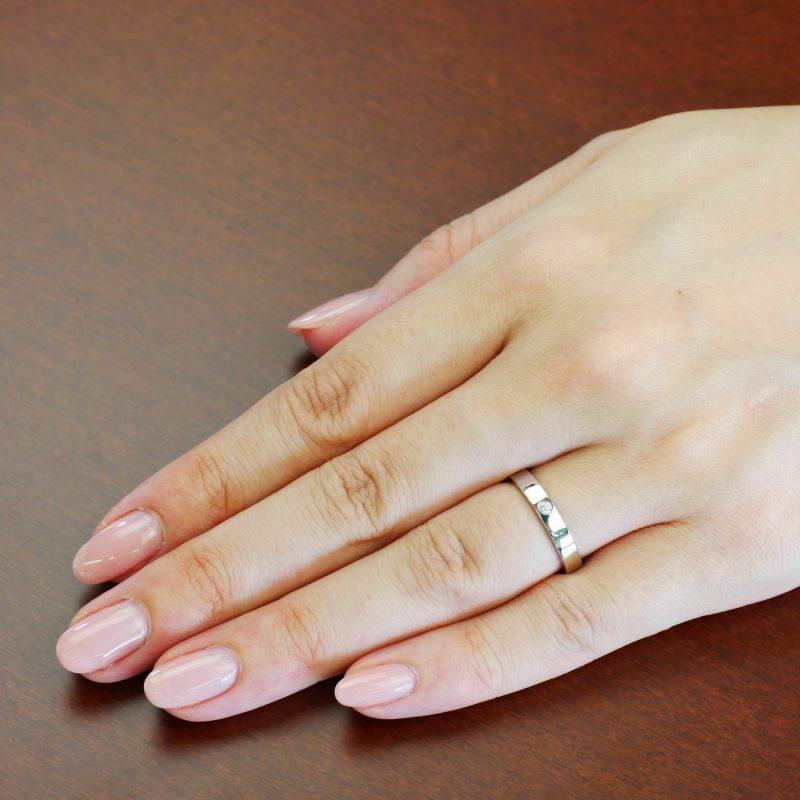 結婚指輪No2 Diamond 0.03ct プラチナ