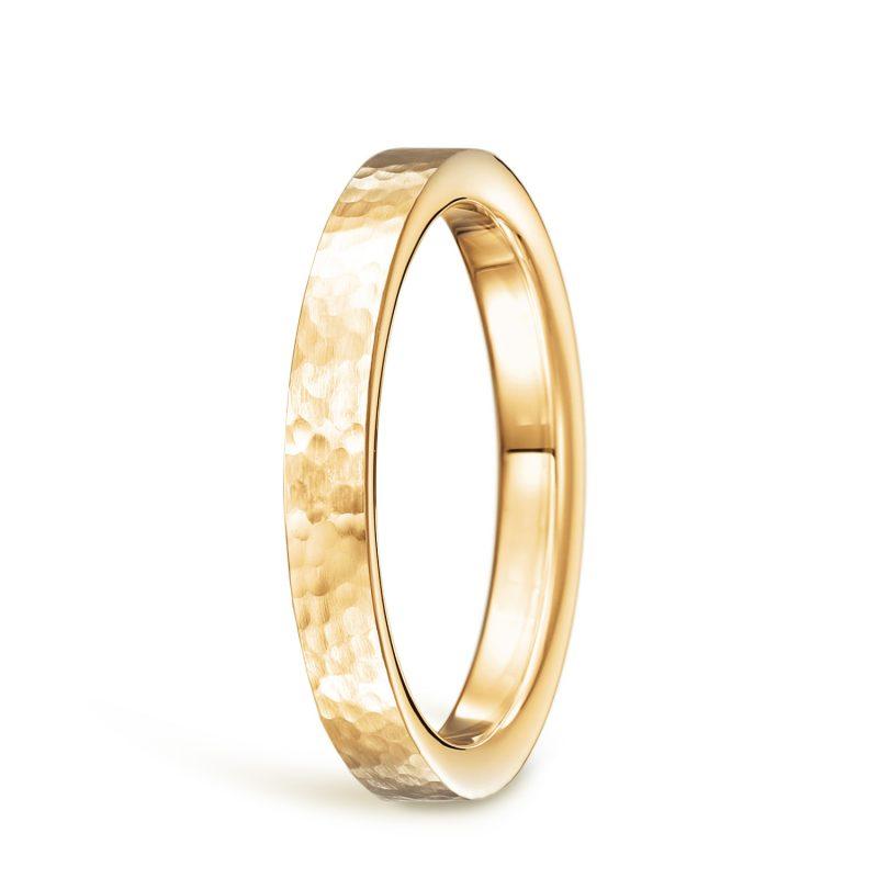 結婚指輪No2 女性用 ゴールド ハンマー・槌目
