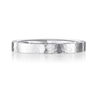 結婚指輪No2 2.5 プラチナ ハンマー・槌目 後幅