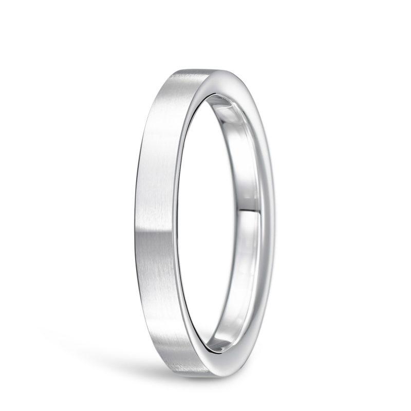結婚指輪No2 2.5 プラチナ ツヤ消し 後幅