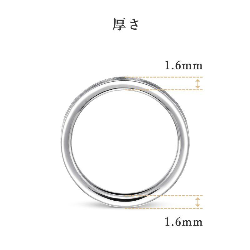 結婚指輪No2 3.0 プラチナ ハンマー・槌目 厚さ
