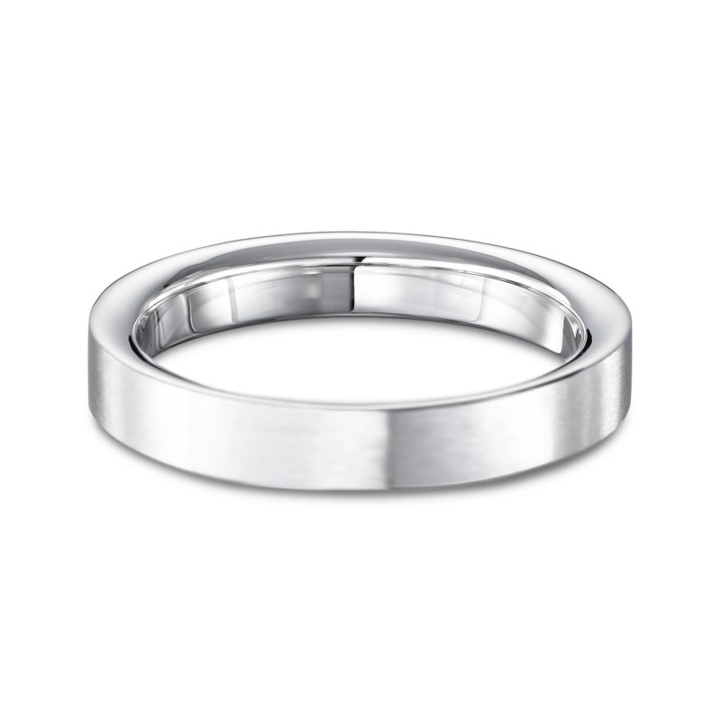 結婚指輪No2 3.0 プラチナ ツヤ消し 後幅