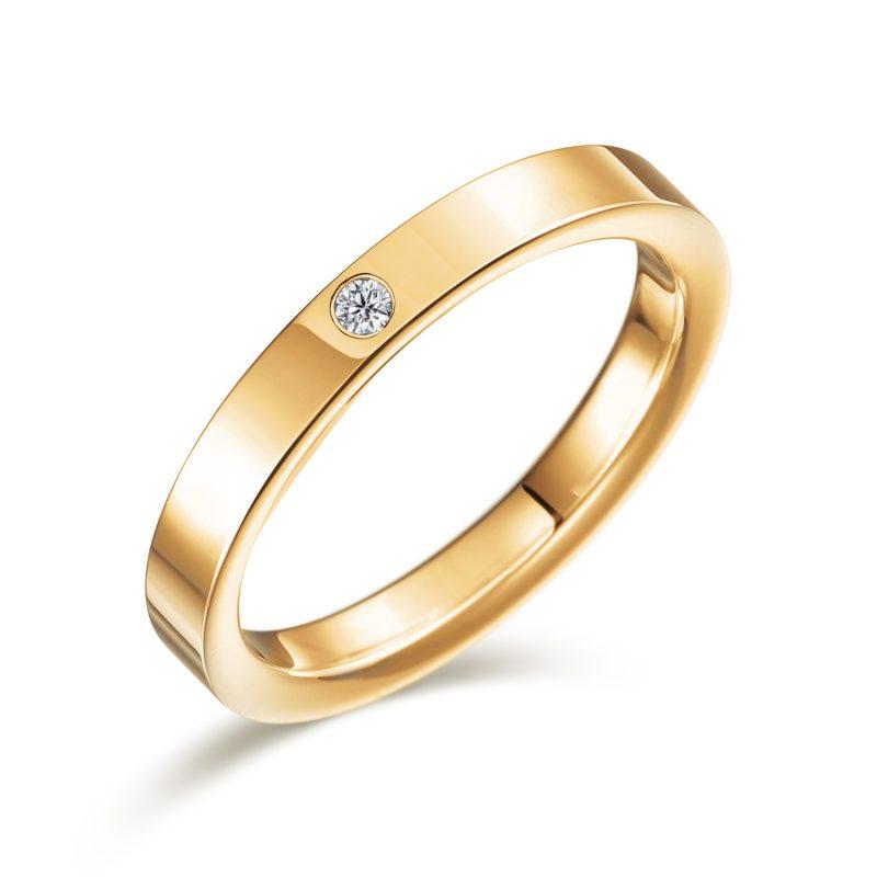 結婚指輪No2 ダイヤモンド 0.01ct ゴールド