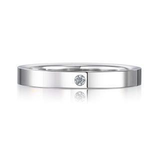 結婚指輪No2 2.5 ダイヤモンド プラチナ 後幅