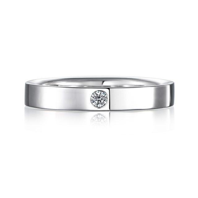 結婚指輪No2 3.0 ダイヤモンド プラチナ 後幅