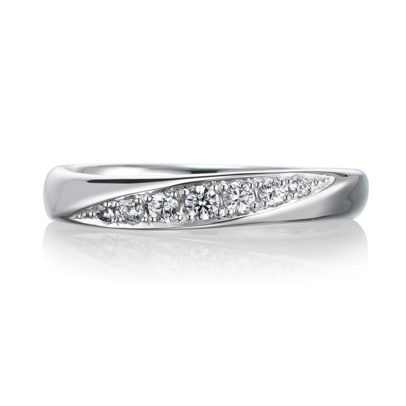 結婚指輪No3 ダイヤモンド 0.14ct プラチナ