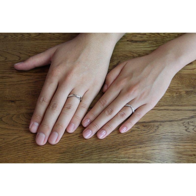 結婚指輪No5 ダイヤモンド 0.28ct プラチナ