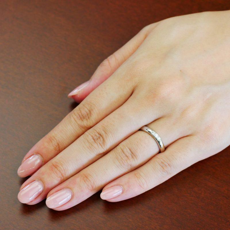 結婚指輪No6 Diamond 0.08ct プラチナ