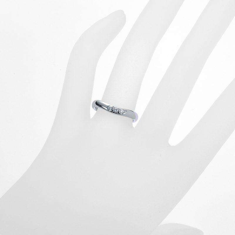 結婚指輪No6 ダイヤモンド 0.08ct プラチナ
