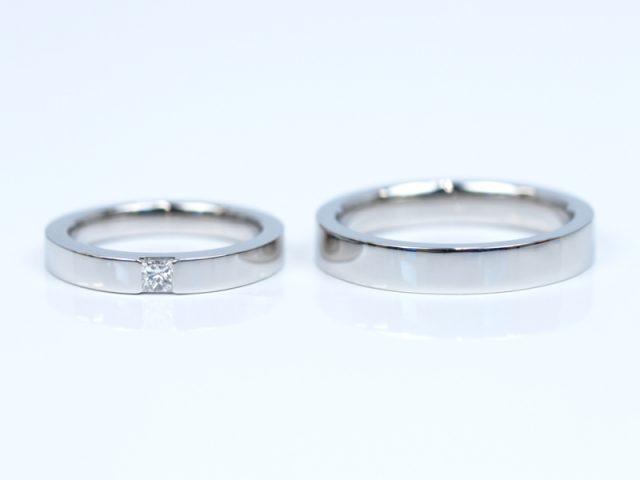 プリンセスカット 結婚指輪