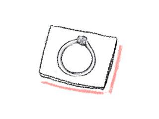 おしゃれな婚約指輪のイラスト