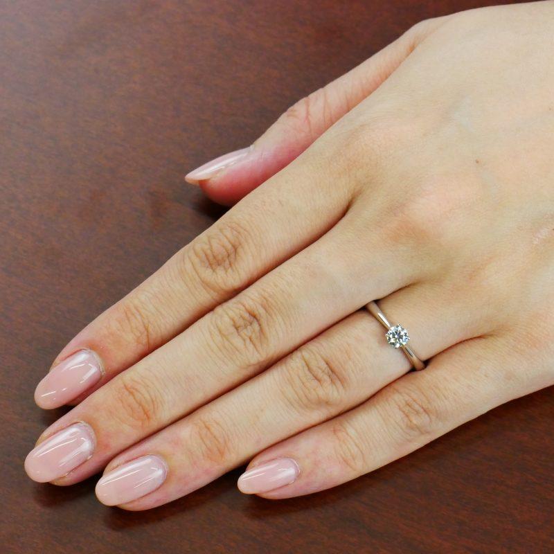 婚約指輪 Butterfly 0.30ct プラチナ
