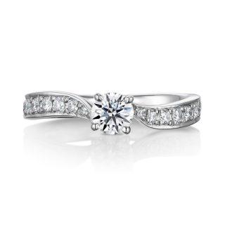 婚約指輪 Leaf 0.30cダイヤモンドt プラチナ
