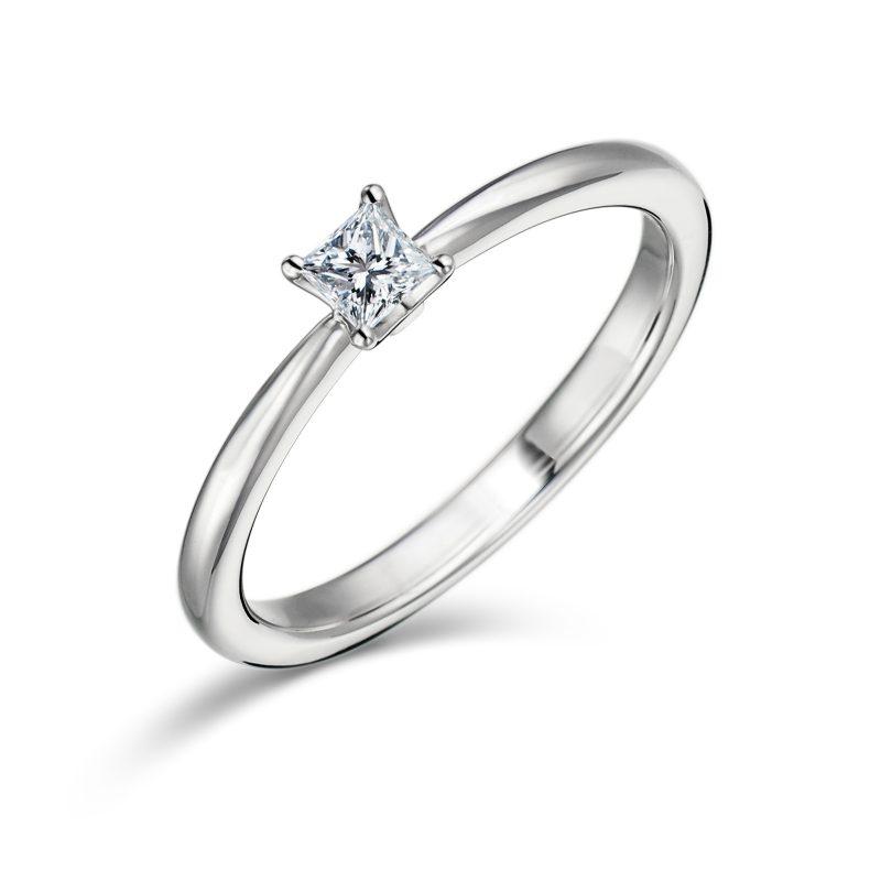 指輪 プリンセスカット 0.15ctダイヤモンド プラチナ