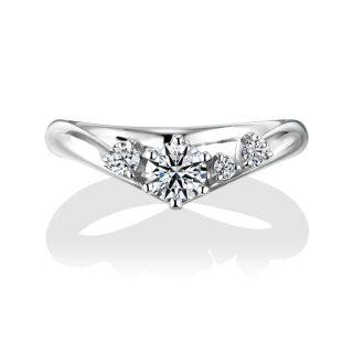 婚約指輪 Tiara 0.30ctダイヤモンド プラチナ