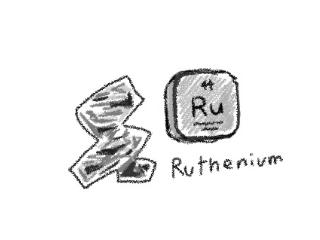 ルテニウムのイラスト