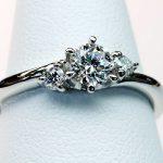 オーダーメイドの婚約指輪 合計0.42ctダイヤモンド