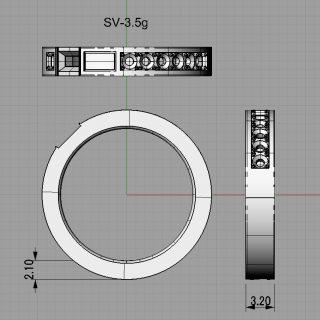 オーダーメイドの結婚指輪 CAD