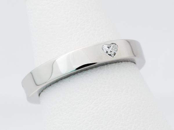 ハートシェイプ(ハートカット) ダイヤモンド 結婚指輪