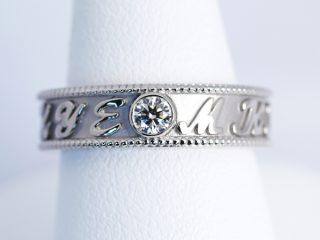 結婚指輪 ミル打ち