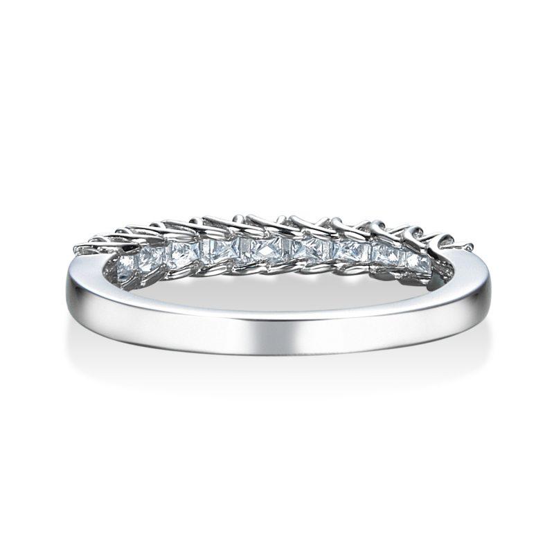 プリンセスカット エタニティリング 0.50ctダイヤモンド プラチナ