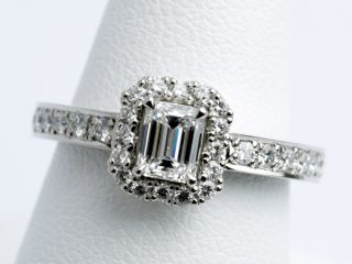 【0.379ct】エメラルドカットのオーダーメイド婚約指輪