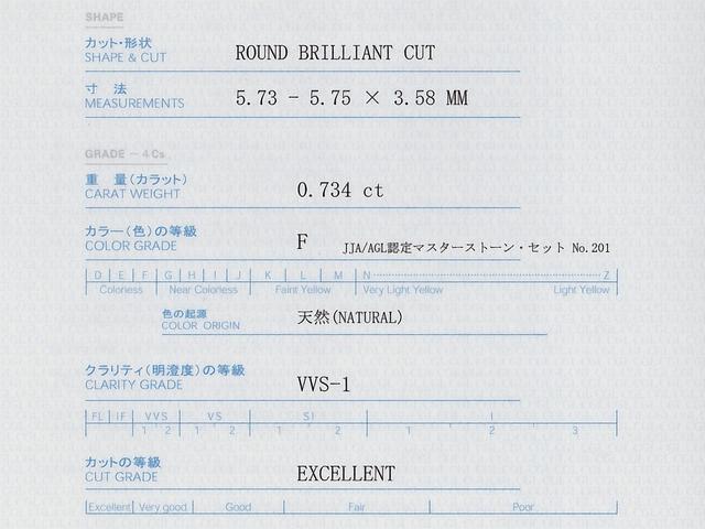 中央宝石研究所(CGL) ダイヤモンド 鑑定書 4C