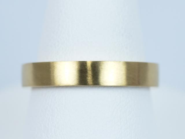 東京都文京区のI様 結婚指輪No2(K18 プリンセスカット)