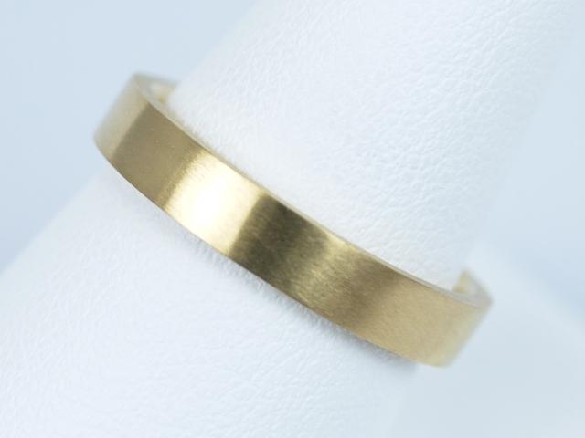 つや消し 結婚指輪 イエローゴールド