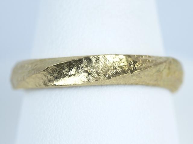 結婚指輪 ハンマー加工 アンティーク