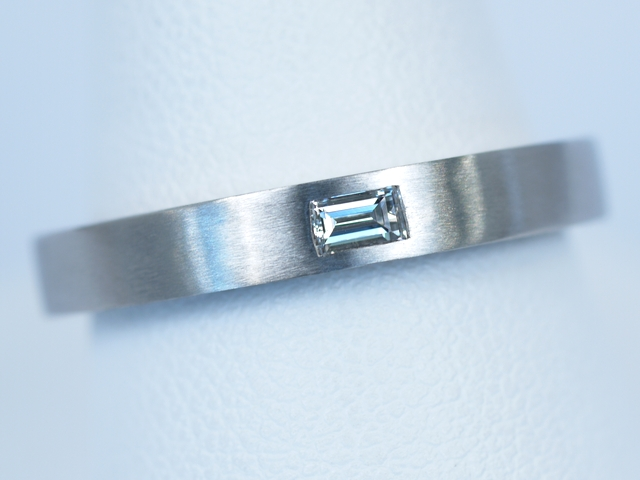 結婚指輪 バゲットカット