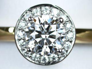 Pt900プラチナ+K18イエローゴールドの婚約指輪
