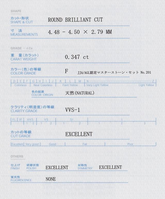 ダイヤモンド 鑑定書