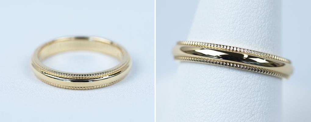 結婚指輪 デザイン ミルグレイン